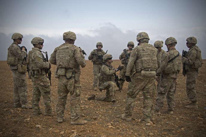 Des militaires américains dans la région de Manbij, Syrie, le 7novembre.