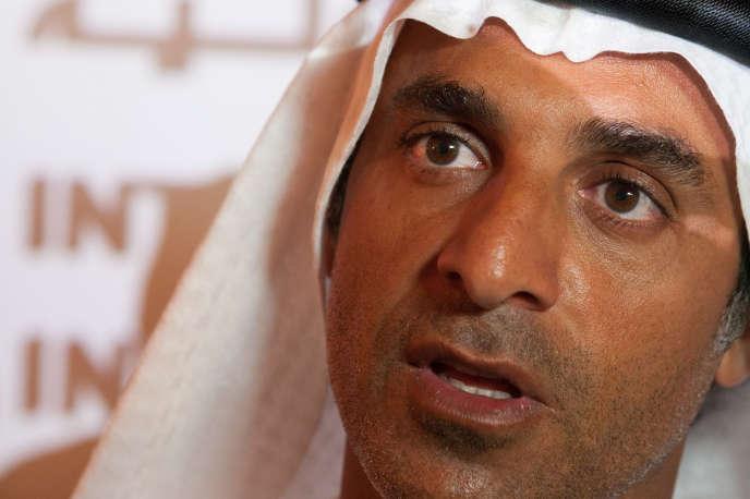 Khadem Al-Qubaisi,« KAQ» lors d'une conférence de presse à Fujairah (Emirats arabes unis) en 2012.