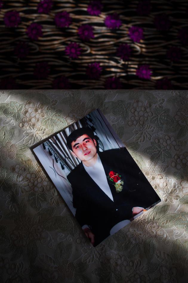 Une photo du mari de Guzel Basitova, retenu depuis un an dans un camp en Chine. A Almaty, au Kazakhstan, en décembre 2018.