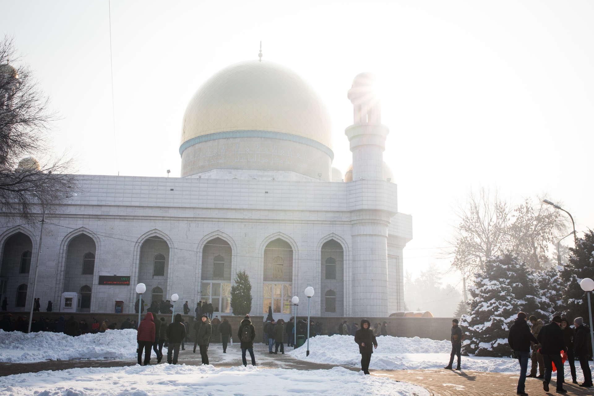 La mosquée centrale d'Almaty, au Kazakhstan, en décembre 2018.