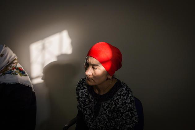 Les familles espèrent le retour de leurs proches au Kazakhstan. A Almaty, au Kazakhstan, en décembre 2018.