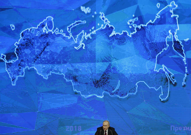 Vladimir Poutine, en décembre 2018 à Moscou.