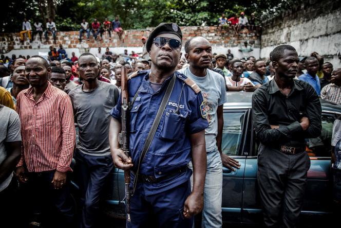 Des militants d'un des partis de l'opposition, le 21 décembre 2018, dans la capitale congolaise, Kinshasa.