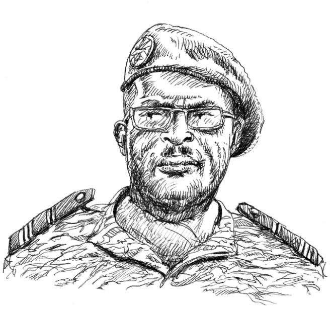 Le général camerounais Jacob Kodji, mort le 22janvier 2017 dans le crash de son hélicoptère.