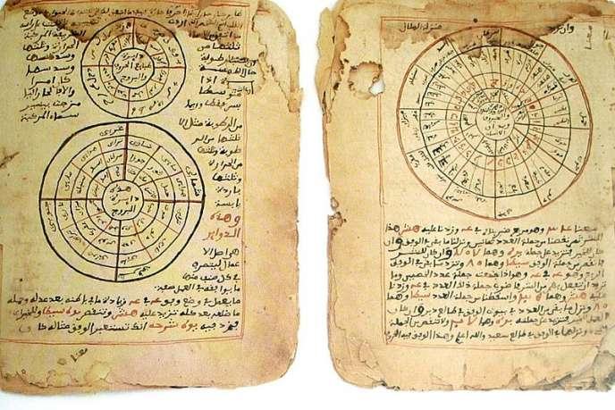 Extrait du manuscrit de la charte du Manden datant de 1236.