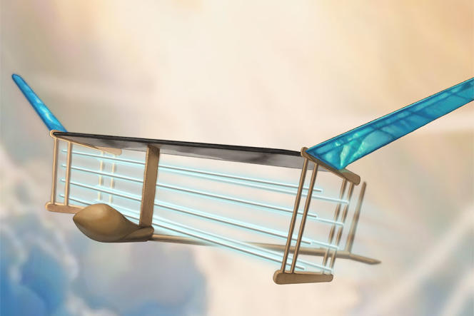Vue d'artiste de l'avion superionique.