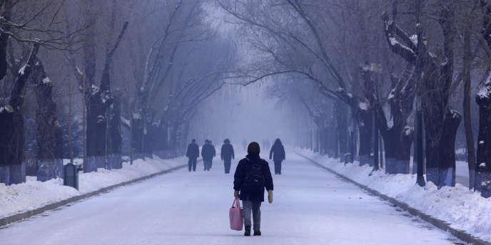Dans la ville chinoise de Harbin, en Mandchourie, non loin de la frontière russe.