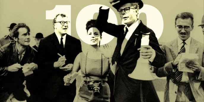 «Huit et demi», de Federico Fellini, avec Marcello Mastroianni en cinéaste dépressif.