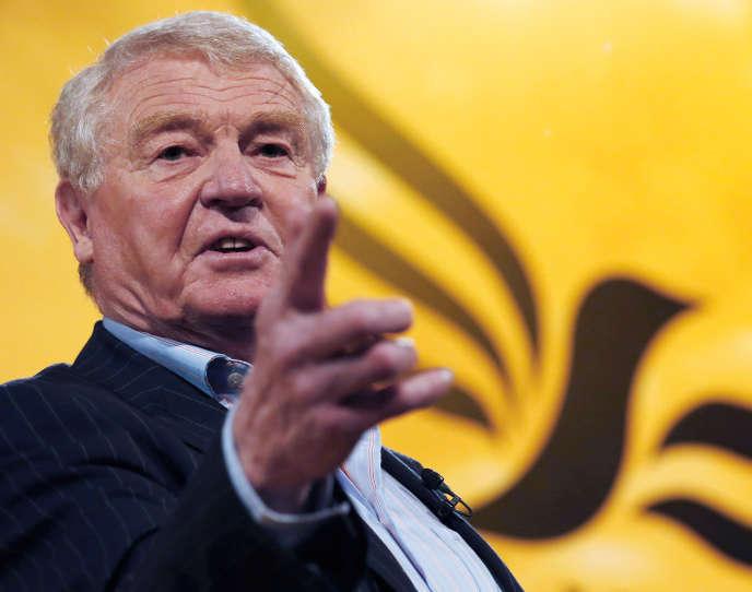 Paddy Ashdown lors d'une réunion du parti libéral-démocrate à Brighton, au Royaume-Uni, le 9 mars 2013.
