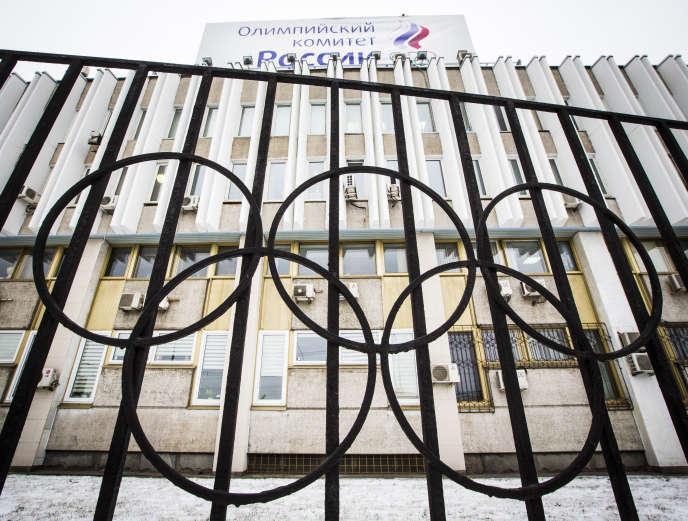 Le siège du Comité olympique russe, à Moscou, le 6 décembre.
