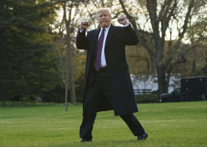Donald trump, le 20 novembre, après une conférence de presse à la Maison Blanche, à Washington.