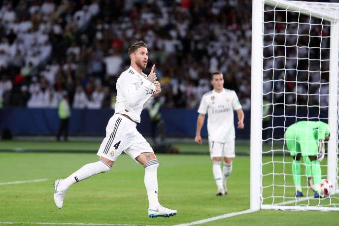 Sergio Ramos, auteur du troisième but du Real Madrid, samedi 22 décembre, à Abu Dhabi.