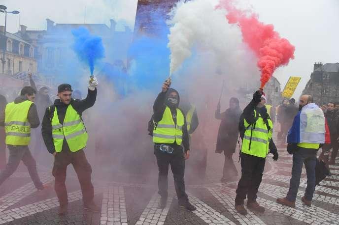 Manifestation de « gilets jaunes», à Bordeaux, le 22 décembre 2018.