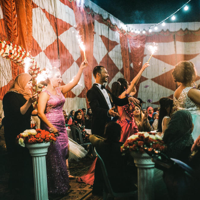 Un mariage. De nombreuses familleschoisissent de célébrer des fêtes à Jéricho, en raison destempératures clémentes l'hiver.