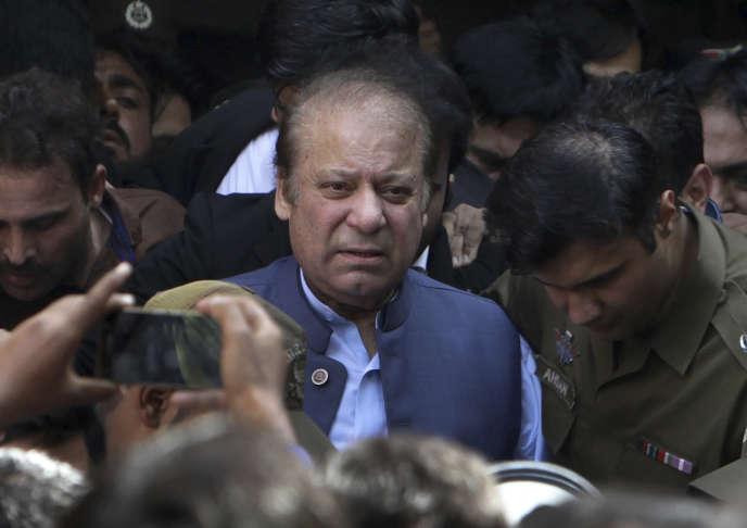 L'ancien premier ministre pakistanais Nawaz Sharif à Lahore, au Pakistan, le8octobre2018.