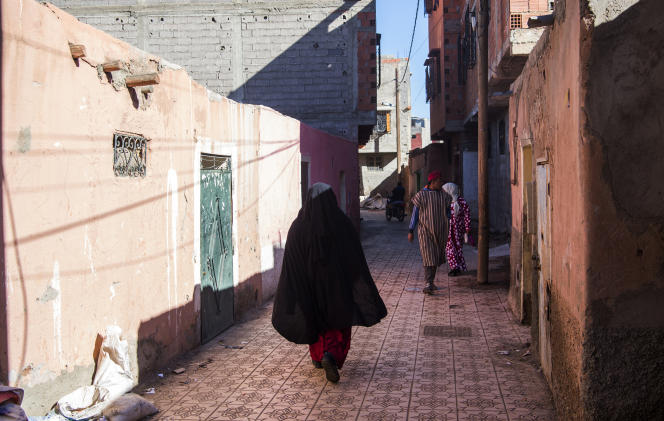 Dans le quartier d'Al-Azzouzia, en banlieue nord-ouest de Marrakech, le21décembre2018.