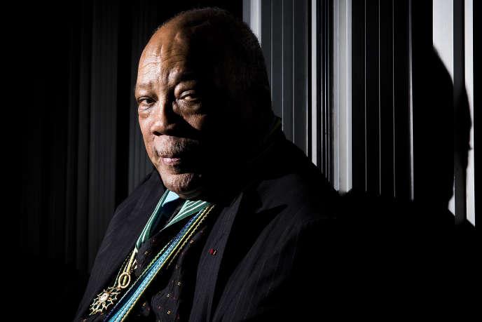 Le musicien et producteur américain Quincy Jones à Paris, en octobre 2014.