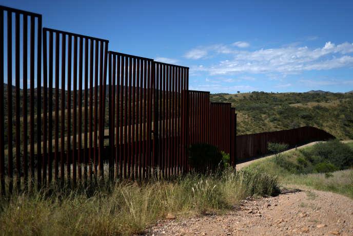 La frontière entre les Etats-Unis et le Mexique, dans l'Arizona, enseptembre2018.