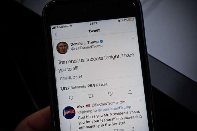 Un tweet posté par Donald Trump, le 6 novembre.