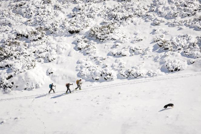 Les stages de ski de rando permettent aussi d'apprendre à trouver l'itinéraire adapté, la bonne trajectoire, dans un environnement sans balises.