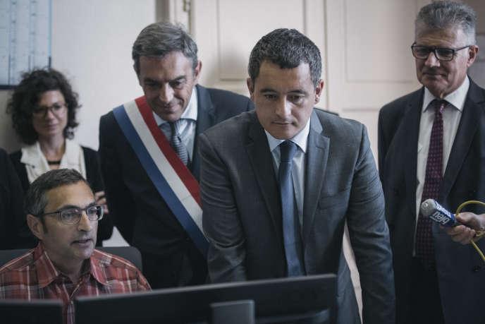 Gérald Darmanin, ministre de l'action et des comptes publics, à Amboise (Indre-et-Loire), le 10 septembre.