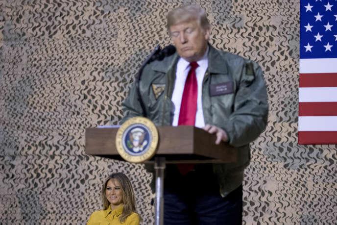 Donald Trump, le 26 décembre à la base aérienne d'Al-Asad en Irak.