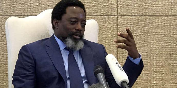 Le président de RDC, Joseph Kabila, à Kinshasa, le 9 décembre 2018.