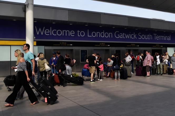 Le deuxième aéroport britannique, Gatwick, en mai 2017.