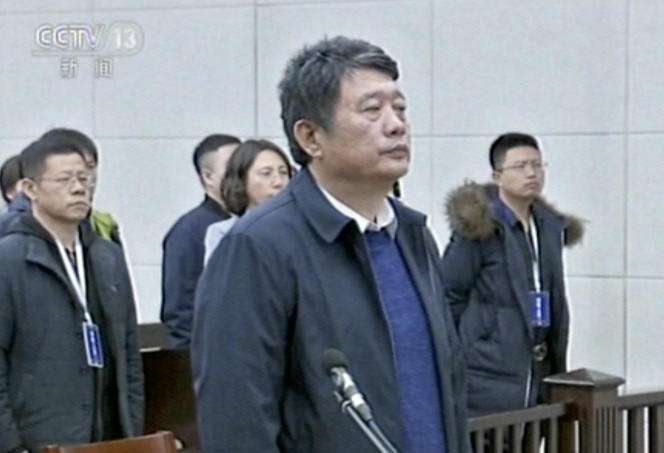 Considéré comme l'ancien chef du contre-espionnage chinois, Ma Jian a été condamné pour corruption à la prison à vie le 27décembre.
