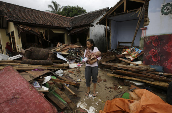 A Carita, en Indonésie, le 27 décembre.