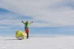 Colin O'Brady, lors de sa traversée de l'Antarctique, le 26 décembre.