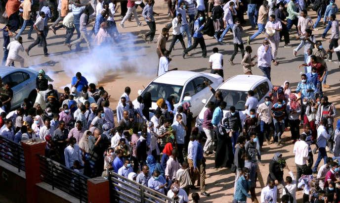 Manifestations à Khartoum, le 25 décembre.