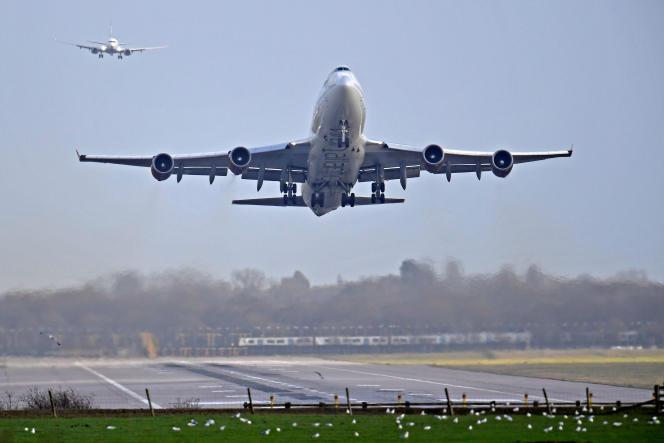 Piste d'atterrissage de l'aéroport deGatwick, au sud de Londres, le 21 décembre.