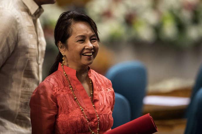 Gloria Arroyo au Congrès, dans la capitale philippine, Manille, le 23 juillet 2018.
