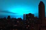Le ciel de New York teinté de bleu, 27 décembre 2018.
