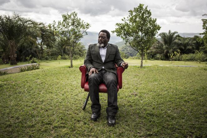 L'ancien président Joseph Kabila, dans sa ferme de Kingakati, près de Kinshasa, en décembre 2018.