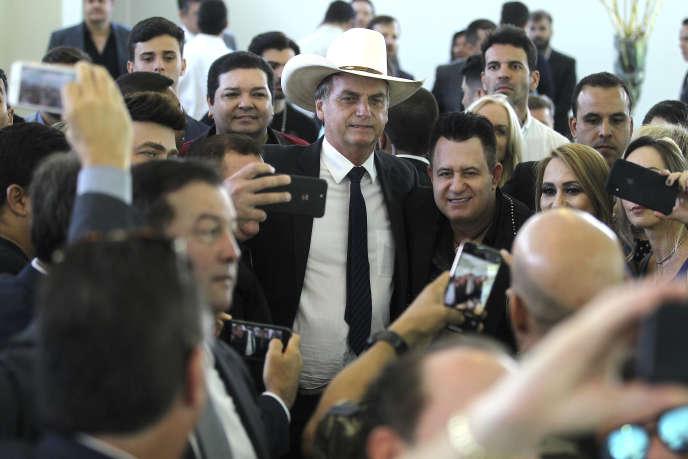 Le président élu brésilien, Jair Bolsonaro, à Brasilia, le 11 décembre 2018.