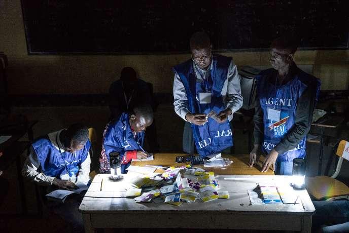 Le dépouillage a commencé, ici à Lubumbashi, dans l'est de la République démocratique du Congo, le 30décembre.