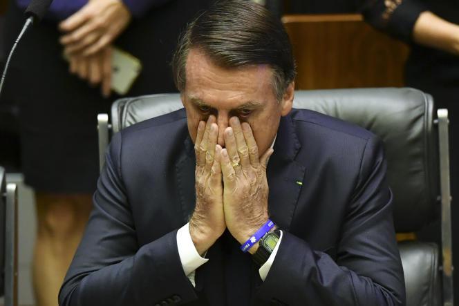 Jair Bolsonaro juste avant son investiture, le 1er janvier 2019.