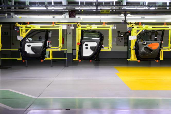 Une usine de construction de voitures Renault, en Slovénie, en février 2016.