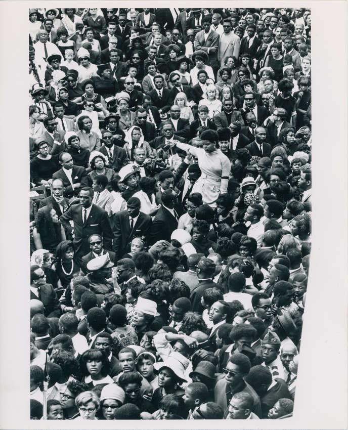 Les funérailles de Martin Luther King Jr le 9 avril 1968, à Atlanta.