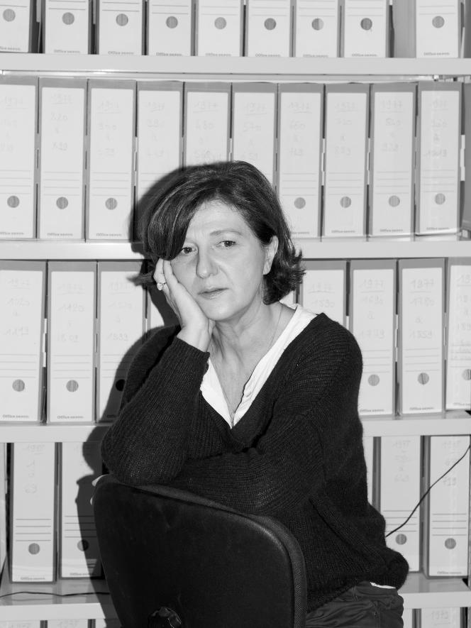 Emmanuelle Amar, directrice de Remera et lanceuse d'alerte sur la question des bébés nés sans bras dans l'Ain, à Lyon, en novembre 2018.
