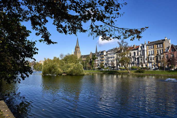Le quartier des étangs à Ixelles.