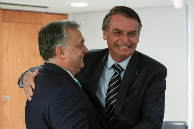 Jair Bolsonaro, le nouveau président brésilien, et Viktor Orban, le premier ministre hongrois, à Brasilia, le 2 janvier.