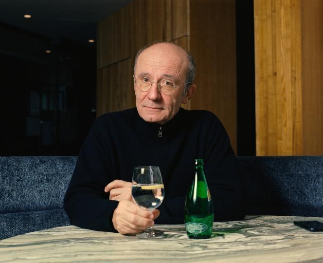 Philippe Geluck à la brasserie Zebra à Paris, le 17 décembre 2018.