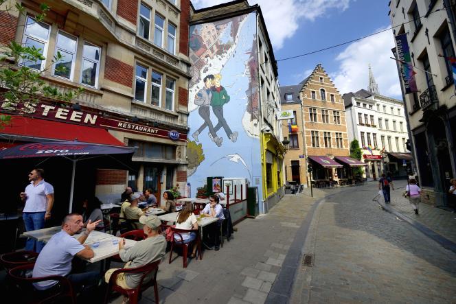 « Broussaille » (BD de Frank Pé), inaugurée en 1991, est la première fresque créée pour le parcours BD de Bruxelles.