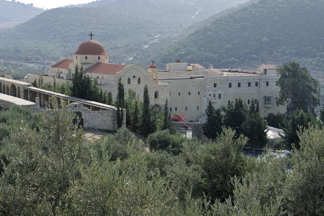 Syrie, le couvent Saint-Georges, non loindu Krak des Chevaliers.