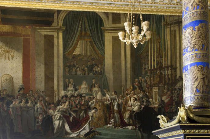 Château de Versailles, Galeries historiques : gros plan sur la salle du sacre de Napoléon 1er.