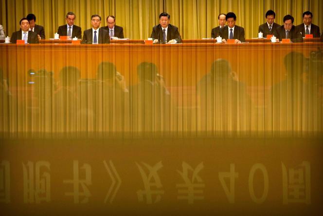 Le président chinois Xi Jinping, lors des 40 ans de l'anniversaire du dégel des relations avec Taïwan, le 2janvier à Pékin.