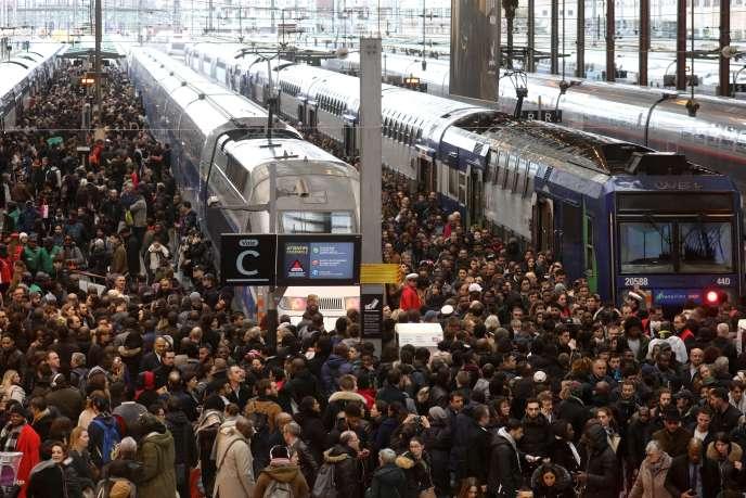 A la gare de Lyon, le 3 avril 2018.